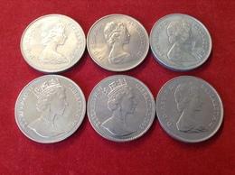 Münzenlot England 6 Crowns Elizabeth II. Gibraltar, Lady Diana, EP, Queen Mother, 1972, 1980, 1981, 1993 - Grossbritannien