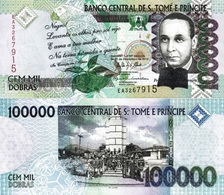SAINT THOMAS & PRINCE 100000 Dobras31 12 2013 P 69 C UNC - Sao Tome And Principe