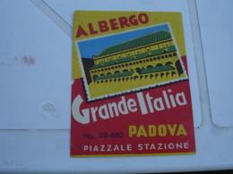 Etiquette Hotel Valise Luggage Padova Padoue Grande Italia - Etiketten Van Hotels