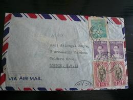 Bhumibol King Airletter 4.01.48 To UK (4,60 Bat) - Siam