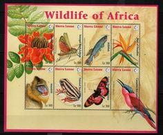 Sierra Leone Flowers Fleurs Strelitzia Reginae Oiseau Du Paradis  MNH - Végétaux
