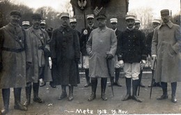 CARTE PHOTO - GUERRE 14/18 - METZ (57) - LA DÉLIVRANCE DE METZ Le 18/11/1918 - War 1914-18