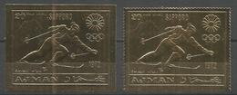 AJMAN - MNH - Sport - Olympic Games - Perf. + Imperf. - Gold - Timbres