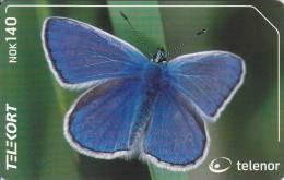 Norway, N210, Vanlig Blavinge / Common Blue, Butterfly,  2 Scans. - Norvège