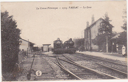 23 - La Creuse Pittoresque - PARSAC - La Gare / Locomotives Vapeur (Train) - Autres Communes