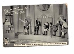 "ALKA-SELTZER ""THE QUIZ KIDS"", On NBC, Paramount Movie Set In NEW YORK, 1950's Chrome Postcard - Reclame"