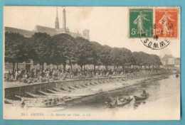 80 - Amiens - Le Marché Sur L'Eau - Animé - Ecrite En 1918 - Amiens