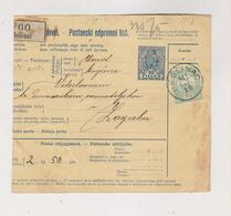 CROATIA HUNGARY 1911 BESLINAC Parcel Card - Croatie