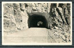 Real Photo B&W Postcard MIAMI SUPERIOR HIGHWAY, Claypool Tunnel, Arizona - Autres
