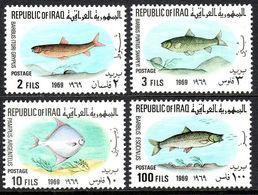 Iraq 1969 MiNr. 548 - 551 Irak Fishes 4v MNH** 13,00 € - Iraq