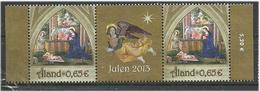 """Aland 2013 Christmas - Birth Of Christ  Mi  384  Pair With Zierfeld  """"Julen 2005"""" MNH(**) - Ålandinseln"""
