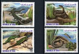 Iraq 1982 MiNr. 1161 - 1164  Irak Reptilies 4v MNH** 12,00 € - Iraq