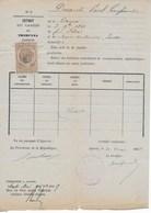 Relevé Casier Judiciaire Vierge Tribunal D'AJACCIO 1885au Nom DeDESANTI Paul Né Le 3 Sept 1861 à CAURO (Corse Du Sud) - Fiscaux