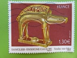 Timbre France YT 4060 - Série Artistique - Sanglier-enseigne Gaulois - Musée De Soulac-sur-Mer - 2007 - Usados