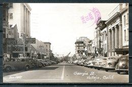 Real Photo B&W Postcard VALLEJO, Georgia Street, California - Other