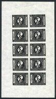 ARGENTINA: GJ.17 (Sc.10), Reprint In Mini-sheet Of 10 Examples, Excellent Quality! - Buenos Aires (1858-1864)
