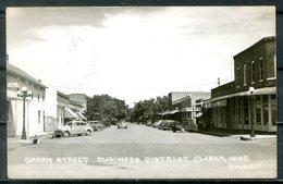 Real Photo B&W Postcard CLARKS, Nebraska - Green Street - United States