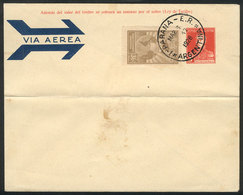 ARGENTINA: GJ.645, 1928 36c. Biestre, On Cover With Cancel Of Paraná For 1/MAR/1928 (first Day Of Issue), Rare! - Poste Aérienne