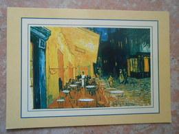 CP THEME ARTS /PEINTURE  /VAN GOGH Place Du Forum A Arles Vers 1888 - Schilderijen