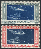 CYRENAICA: Sc.C18/C19, 1933 Crossing Of The North Atlantic, Cmpl. Set Of 2 Values, Mint Very Lightly Hinged, VF Quality! - Cirenaica