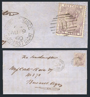 """GREAT BRITAIN: 9/AU/1869 LONDON - Buenos Aires: Folded Cover Franked By Sc.27 With Interesting """"POSTED SINCE - 7 30 LAST - 1840-1901 (Viktoria)"""