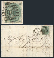 GREAT BRITAIN: 7/JUL/1863 LONDON - Buenos Aires: Entire Letter Franked By Sc.42a Plate 1, Duplex Cancel, With Crease Aff - 1840-1901 (Viktoria)