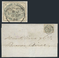 GREAT BRITAIN: 8/SEP/1886 LONDON - Buenos Aires: Folded Cover Franked By Sc.103 With Datestamp, On Reverse It Bears Two  - 1840-1901 (Viktoria)