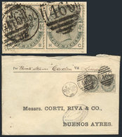 GREAT BRITAIN: 25/OCT/1886 LIVERPOOL - Buenos Aires: Cover Franked By Pair Sc.103, Duplex Cancel And Buenos Aires Arriva - 1840-1901 (Viktoria)
