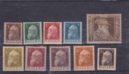 Bavière YV 76 à 83 Et 85 à 85 Neuf Avec Trace De Charnière 1911Prince Régent - Bavaria