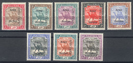 SUDAN: Sc.MO5/MO12, 1906/11 Complete Set Of 8 Values With Additional Overprint SPECIMEN, All With Part Gum, One With Def - Soedan (1954-...)