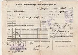 Hist. Dokument / 1939 / Brillen-Verordnungs- Und Bestellschein Ex Herne, 2 Seiten (BF54) - Historische Dokumente