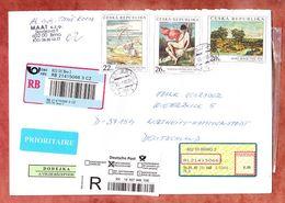 Einschreiben Reco, Gemaelde, Brno Nach Northeim, Deutsches R-Label 2005 (94051) - Lettres & Documents