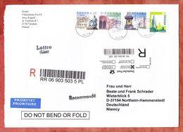 Einschreiben Reco, Gebaeude, Krakow Nach Northeim, Deutsches R-Label 2006 (94053) - 1944-.... Republic