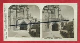 Vue Stéréoscopique  - Blois - Cathédrale - Portail - Blois