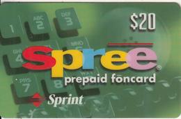 USA - Spree, Sprint Prepaid Card $20, Exp.date 31/03/00, Used - Vereinigte Staaten