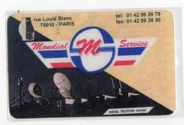 FRANCE CARTE Prépayée DIESEL TELECOM MONDIAL SERVICE 100 F - France