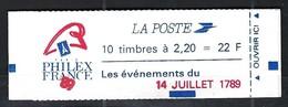 BICENTENAIRE DE LA REVOLUTION FRANCAISE 1789-1989: Carnet France Du 14 Juillet, Neuf**   TTB - Franz. Revolution