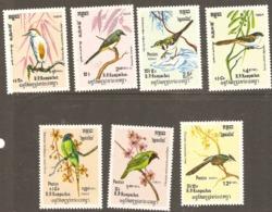 Kampuchea  1984  SG  508-14 Birds  Unmounted Mint - Kampuchea