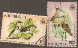 Kiribati 1983  SG 036,9  Birds  Overprted OKGS  Fine Used - Kiribati (1979-...)