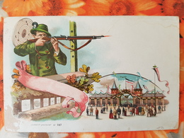 GERMANY. Vintage Postcard,  Shooting Area . Schützenfest At Munich - Waffenschiessen