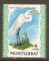 Montserrat  1978  SG 245  White  Egret  Unmounted Mint - Montserrat