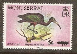 Montserrat  1987  SG 724 Glossy Ibis    Unmounted Mint - Montserrat
