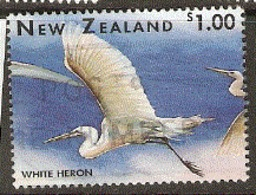 New Zealand  1996 SG  1994  $1  White Heron  Fine Used - Oblitérés