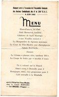 -MILITAIRE-(Menu Des Anciens Combattants Des 4è Et 204è R. A. C) ,à La Bresse-88 - En.1952 - - Menus