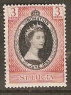 St Lucia  1953 SG  171  Coronation Mounted Mint - St.Lucia (1979-...)