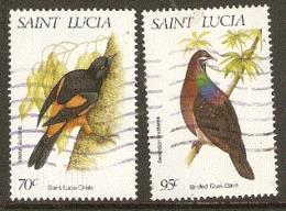 St  Lucia  1998  SG 1198-9 Burds    Fine Used - St.Lucia (1979-...)
