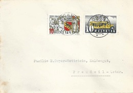 Brief  Locarno - Freudwil  (Mischfrankatur)            1941 - Covers & Documents