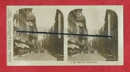 Vue Stéréoscopique  - Caen  -  La Rue St Jean - Caen