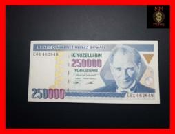 TURKEY 250.000 250000 Turk Lirasi 1995  P. 207 XF - Turquia