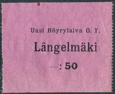 Finland 1920's Ship Mail S/S Längelmäki Steamship Co. 50 Penni Local Post Parcel Freight Schiffspost Paketmarke Colis - Ships